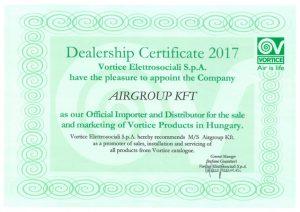 Vortice certificate